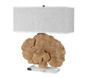 Gold Faux Coral Effect Lamp