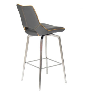 Leather Effect Swivel Bar Stool