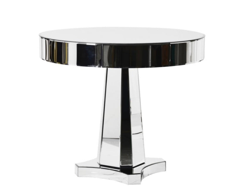 Mirrored Round Drum Top Table