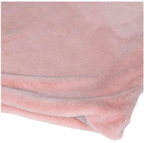 Soft Pink Faux Fur Throw