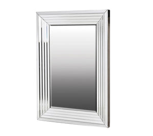 Glass Square Lined Wall Mirror