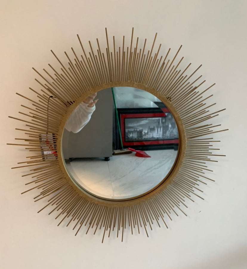 Gold Spike Wall Mirror