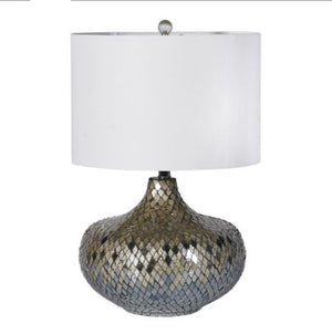 Silver Mosaic Table Lamp