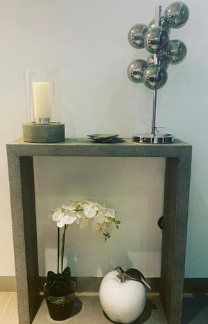 Leather Shagreen Console