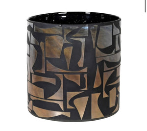 Abstract Black Vase