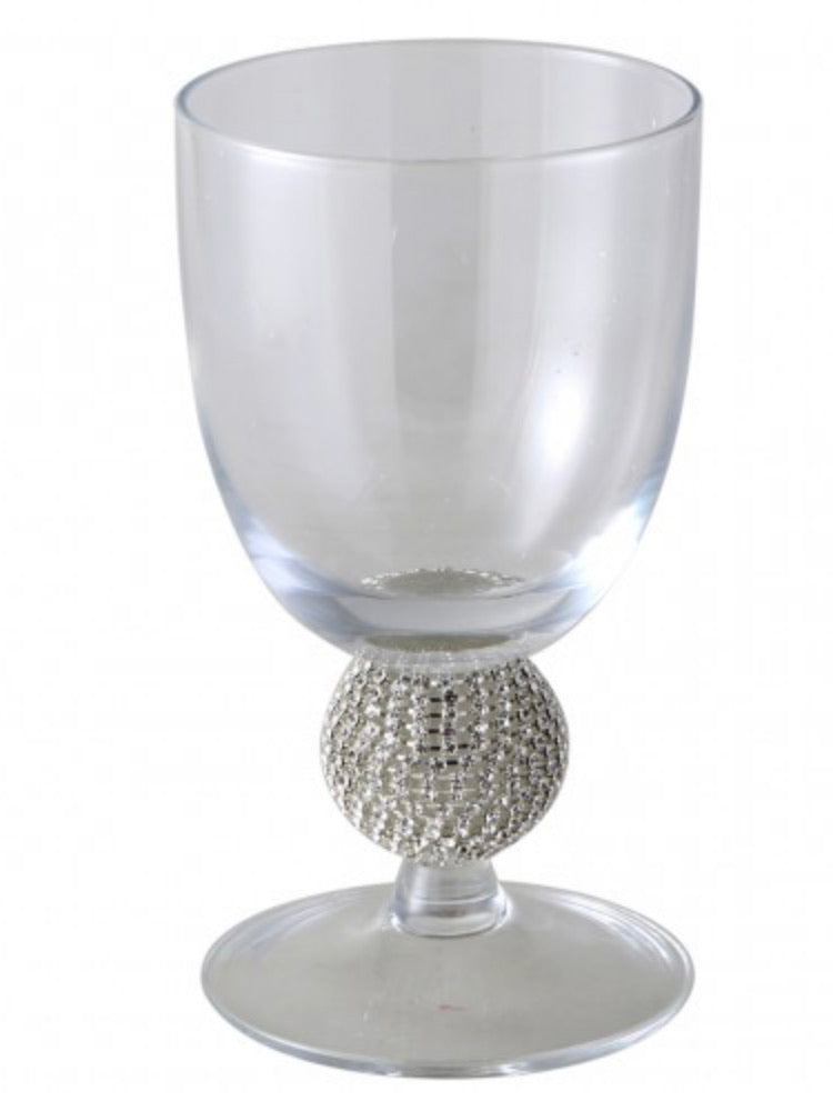 Glass Tumbler with Diamanté Ball