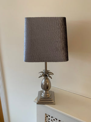 Pineapple Lamp with Grey Shade