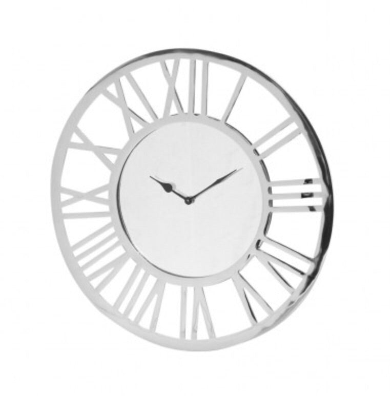 Round Chrome Wall Clock