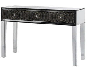 3 Circles Mirrored Console Table