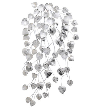 SIlver and White Hearts Wall Art