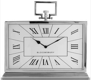 Silver Bloomsbury Mantel Clock