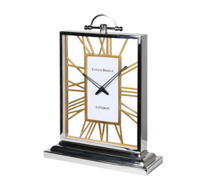 Silver & Gold Tower Bridge Clock