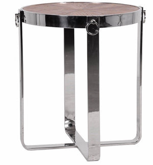 Steel Frame Round End Table