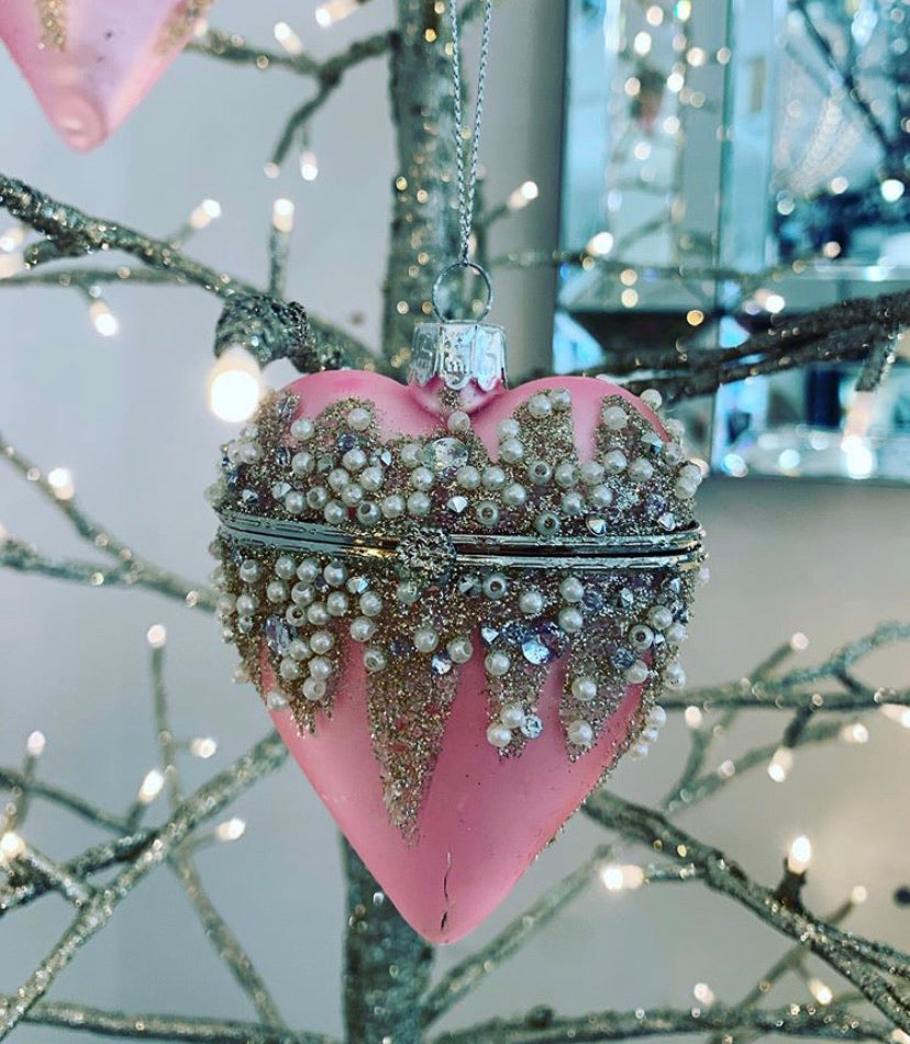 Pink Hanging Heart Box