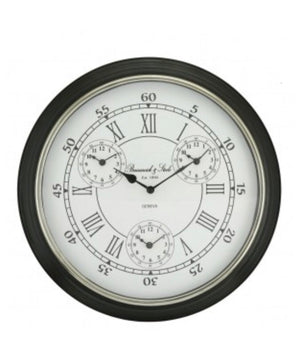 World Clock with Black Rim