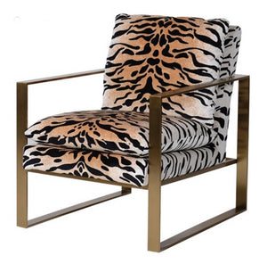 Gold Tiger Print Chair