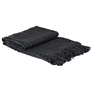 Indigo Natural Cotton Throw with Tassels