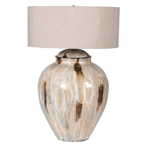 Coffee Enamel Lamp with Shade