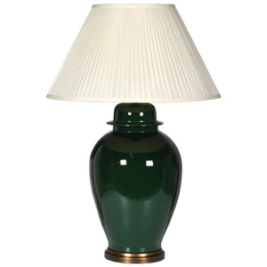 Emerald Green Lamp with Shade