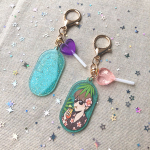 Beach Holiday Keychain