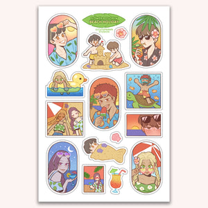 Beach Holiday Sticker Sheet