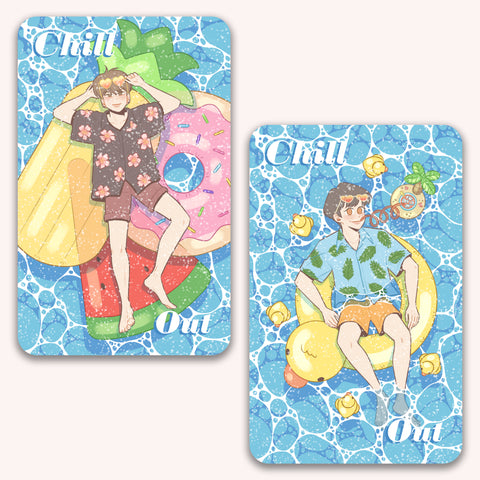 Chill Out Card Sticker