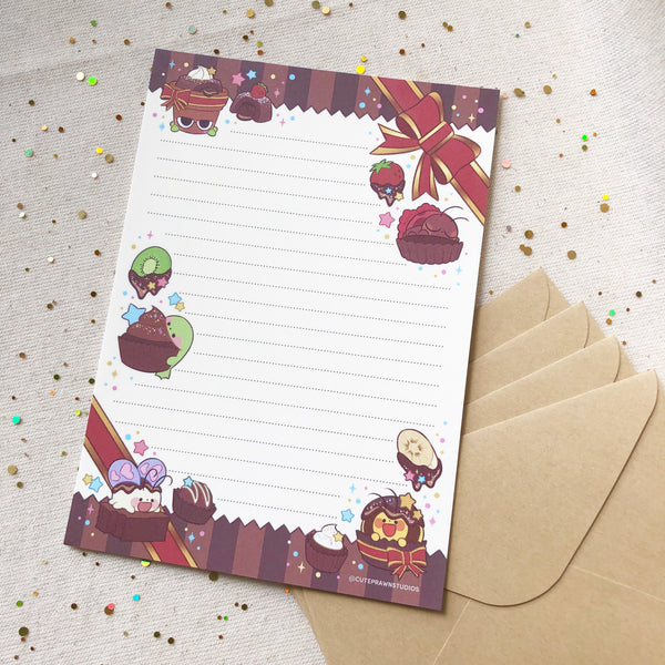 Chocolate Crawlies Letter Pad