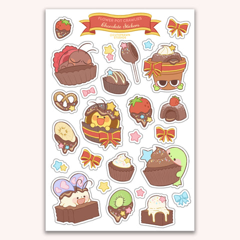 Chocolate Crawlies Sticker Sheet