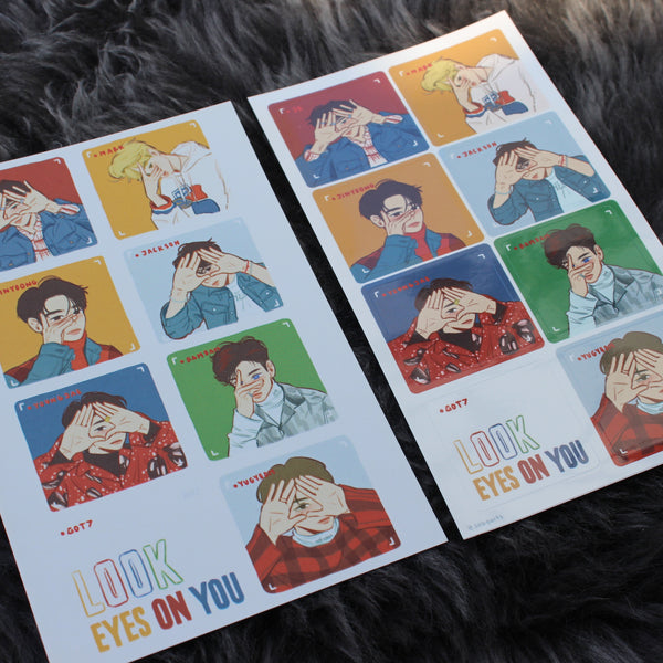 Eyes on You Postcard + Sticker Set