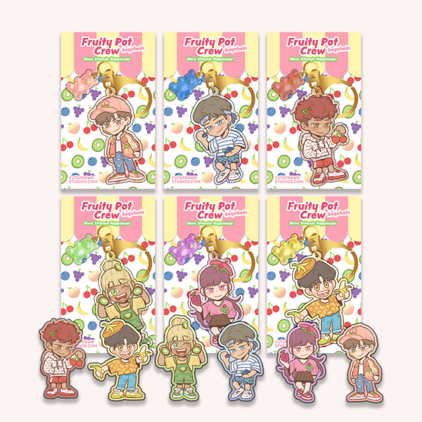 Fruity Pot Crew Keychain + Sticker Set