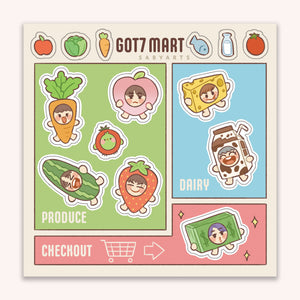 GOT7 Mart Sticker Sheet