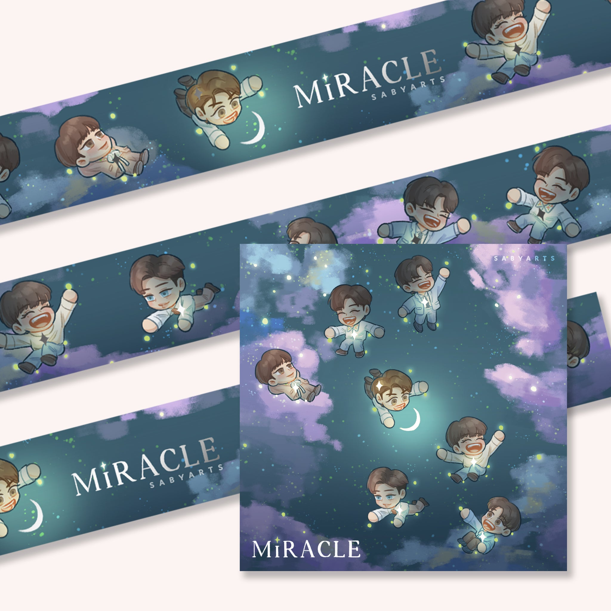 Miracle Washi Tape + Postcard Set