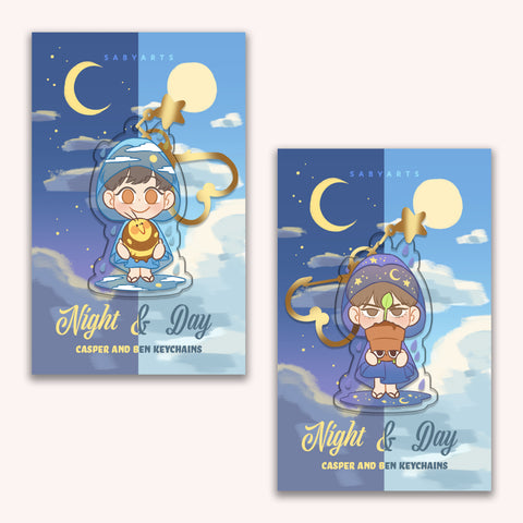 Night & Day Keychains