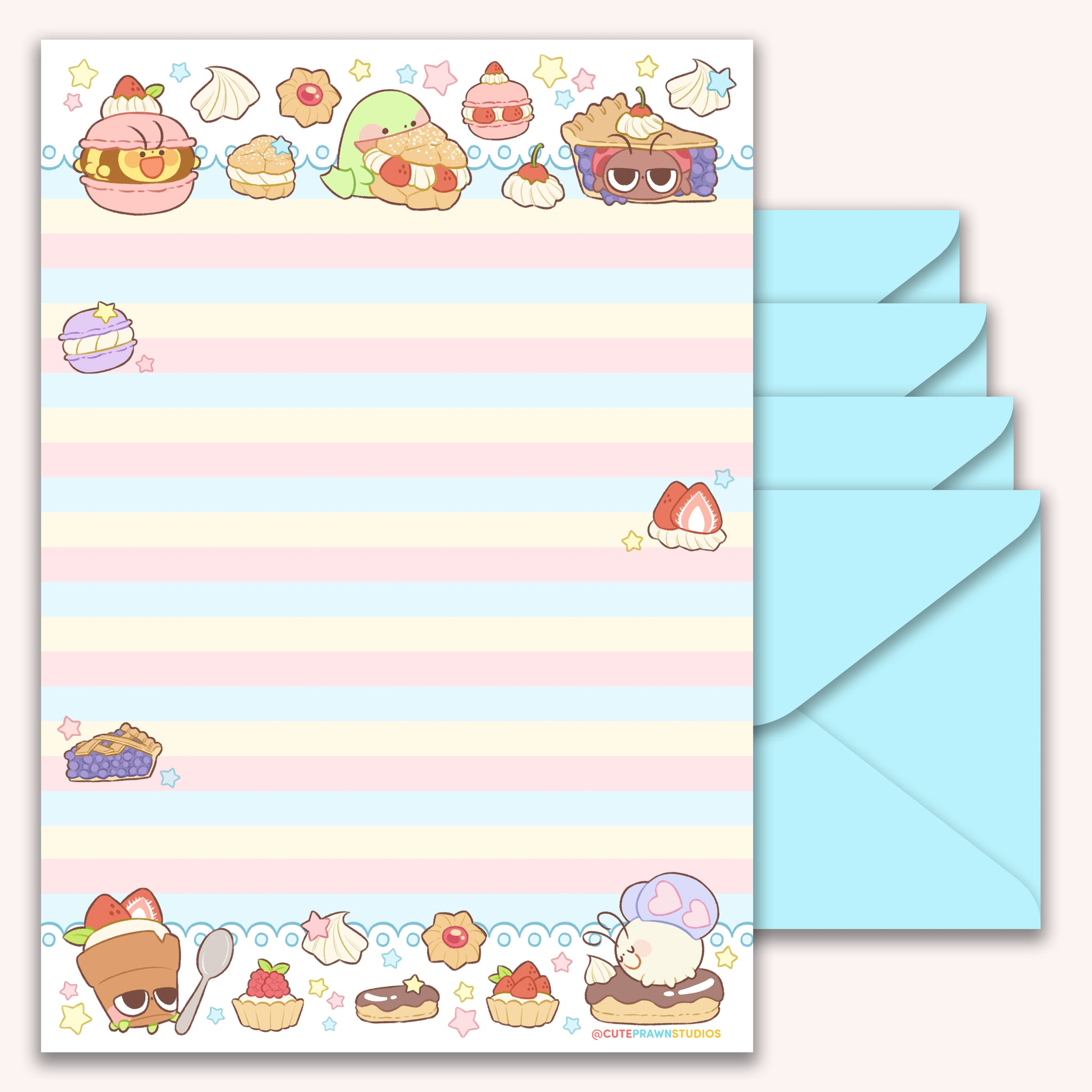 Pastry Crawlies Letter Pad