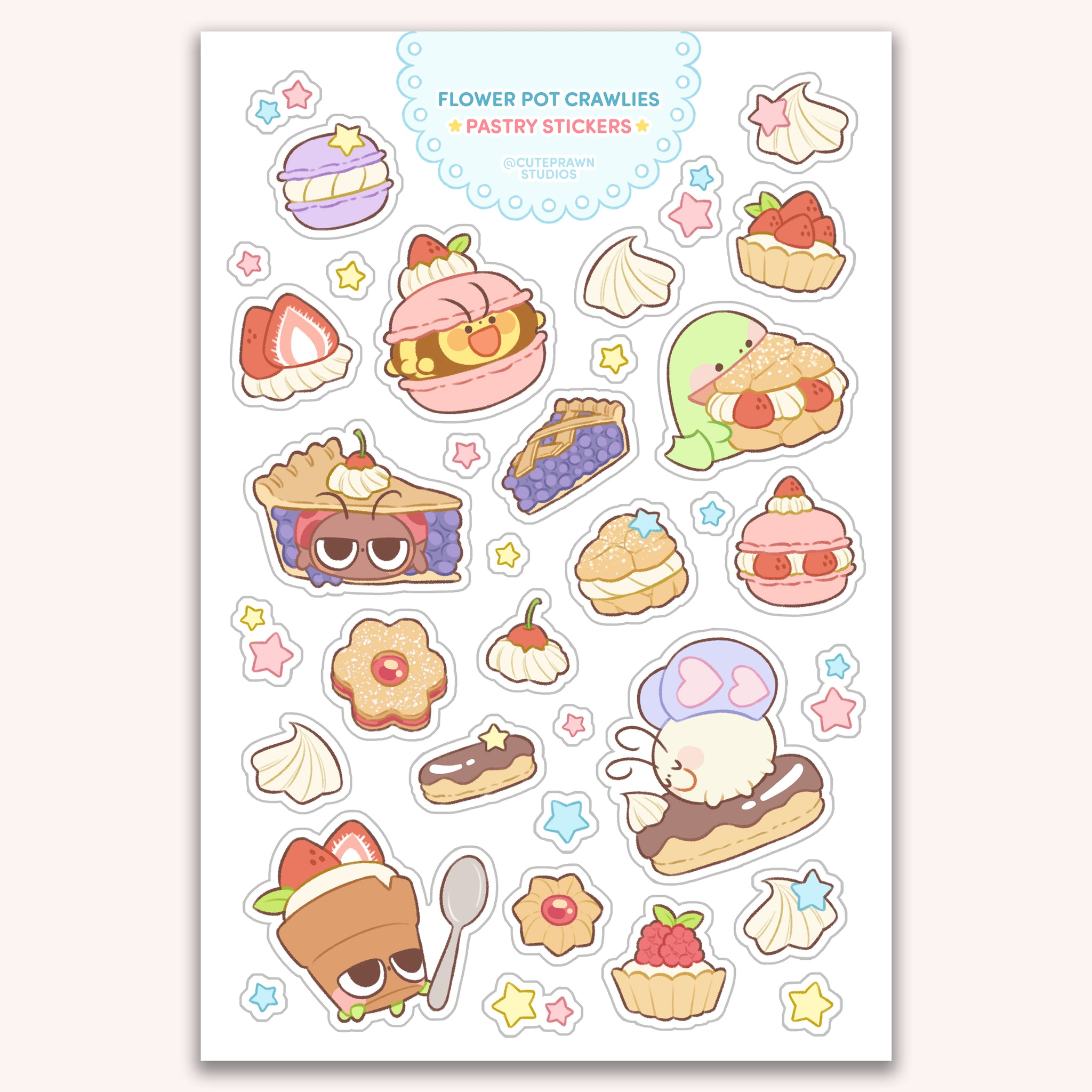 Pastry Crawlies Sticker Sheet