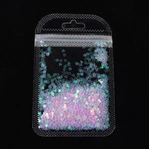 Holographic Butterfly Heart Nail Art Glitter Star Flakes Sequins Polish Manicure Nail Decoration