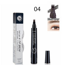 Load image into Gallery viewer, Microblading Eyebrow Tint 4 Tip Pen 4 Colors Makeup Waterproof Cosmetic Eyebrow Pencil