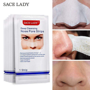 Beauty Face Mask Nose Strips Deep Cleansing Blackhead Remover Nasal Spot Facial Acne Black Head