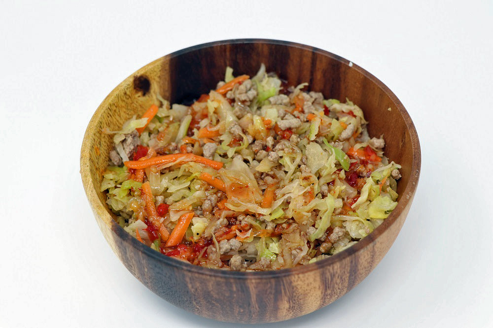Eggroll in a Bowl with Ground Beef