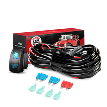 16AWG Wiring Harness Kit 12V with 5Pin Laser On off SASQUATCH LIGHTS Rocker Switch, 2 Lead