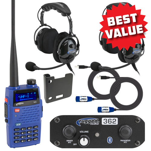 RRP362-BT Bluetooth Intercom System with OTU Headsets and V3 Radio