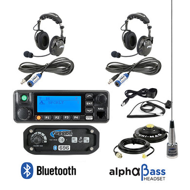 RRP696 2-Place Intercom with 60-Watt Radio and AlphaBass Headsets