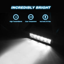 30W Super Slim Single Row Spot LED Light Bar, 7 Inch, 2 Piece Kit