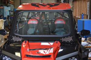 MOTO ARMOR FULL GLASS WINDSHIELD FOR CAGEWRX RACE CAGE ON RZR 900, 1000, TURBO