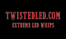 Twisted LED Dual Whip Kit, Various Sizes and Colors