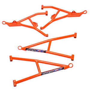 "Zbroz Racing ARS FX Max Ground Clearance, +2"" Forward Front A-Arm Kit Red"
