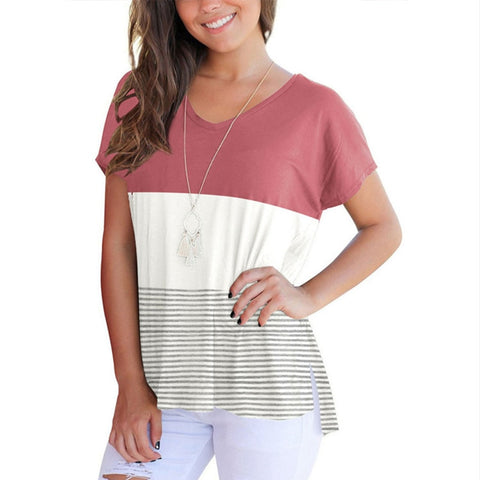 Patchwork Striped Tee