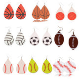Sports Leather Earring