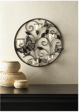Load image into Gallery viewer, Butterfly Candlelight Wall Sconce