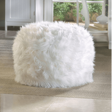 Load image into Gallery viewer, White Ottoman Pouf